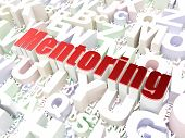 Education concept: Mentoring on alphabet background