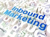 Business concept: Inbound Marketing on alphabet background