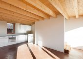 foto of chalet interior  - comfortable empty loft - JPG