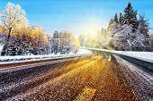 Winter Road In Winter