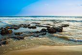 Landscape Of The Coast Of Varkala. India, Kerala