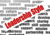Leadership Style Word Cloud