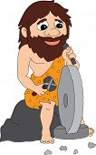 pic of caveman  - Caveman Wheel - JPG
