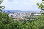 OSLO, NORWAY - JUNE 30. View of Oslo City from a hill nearby on June 30, 2009 in Oslo, Norway.