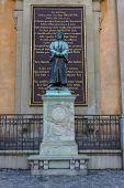 Olaus Petri Statue In Stockholm