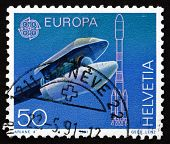 Postage Stamp Switzerland 1991 Ariane Payload Fairing