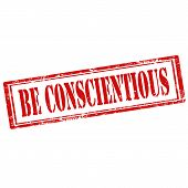 Be Conscientious-stamp