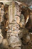 picture of stalagmite  - Stalagmite formation in Postojna cave in Slovenia - JPG