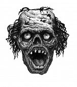 Zombie. Hand drawn.
