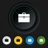 Case sign icon. Briefcase button.