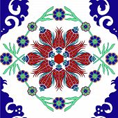 Turkish tulip tile art