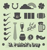 Happy St Patricks Day Icons and Symbols