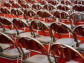 Rows Of Metal Chairs