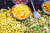 Olives at Mahane Yehuda, famous market in Jerusalem