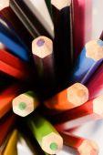 Set of crayon pencils