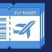 flat icon fly ticket