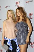 LOS ANGELES - FEB 22: Taylor Spreitler, Debby Ryan at the Abercrombie & Fitch 'The Making of a Star'
