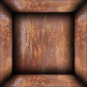Interior Of Metal Rusty Box