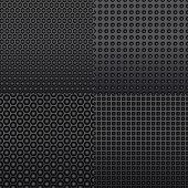 Four repeat seamless carbon patterns