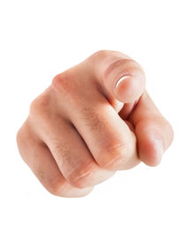 stock photo of nonverbal  -  Hand pointing at you on white background - JPG