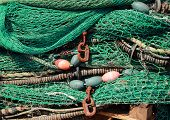 Pile Of Green Fishing Net Background