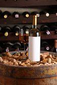 White Wine In Wine Cellar