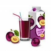 Plum juice set