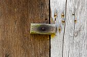 Wooden Latch On A Wooden Door