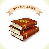 Law icon legal books