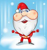 Santa Claus Cartoon With Background