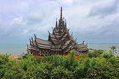 Sanctuary Of Truth Temple (also Called Wang Boran And Prasat Mai). Pattaya, Thailand