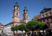 MILTENBERG, GERMANY - 20 JULY: Church of St. James in Miltenberg, Lower Franconia, Bavaria, Germany,