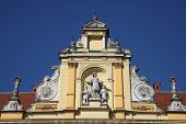ZAGREB, CROATIA - SEP 14: Architectural detail of the building of the Museum of Arts and Crafts in Z