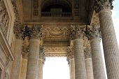 PARIS, FRANCE - NOVEMBER 06, 2012: The Pantheon is a building in the Latin Quarter in Paris. It was