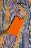 orange tag with empty space for your writing