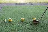 Golf Balls Waiting To Hit
