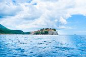 foto of former yugoslavia  - Formerly an island Sveti Stefan is now connected to the mainland by a narrow isthmus Montenegro - JPG