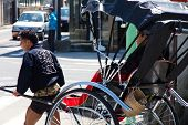 stock photo of rickshaw  - KYOTO - JPG