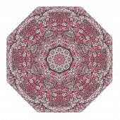 Octagonal Rosy Ornament