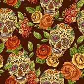 picture of day dead skull  - Beautiful Skull - JPG