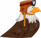 Mascot Illustration Featuring an Eagle Wearing a Pilot's Helmet