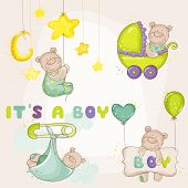 Baby Bea rSet - for Baby Shower or Baby Arrival Cards - in vector