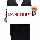 Bankrupt Sign