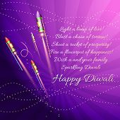 Vector diwali background with crackers