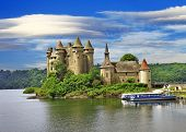 beautiful fairy castle in lake - Chateau de Val, France