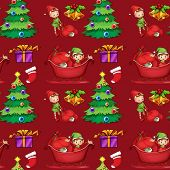 Illustration of a christmas wrapping paper