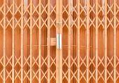 The Old Orange Steel Door