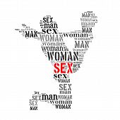 Woman Man Word Cloud