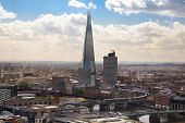 LONDON, UK - AUGUST 9, 2014 Shard of glass the tallest building in Europe and in London