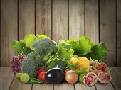 collection different fruits and vegetables